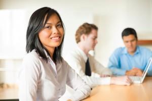 Attractive Asian Businesswoman Meeting