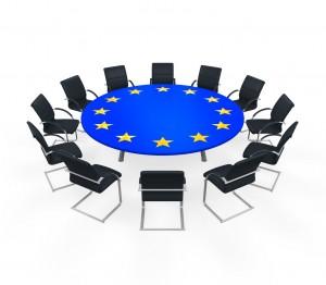 European Union Round Meeting Table